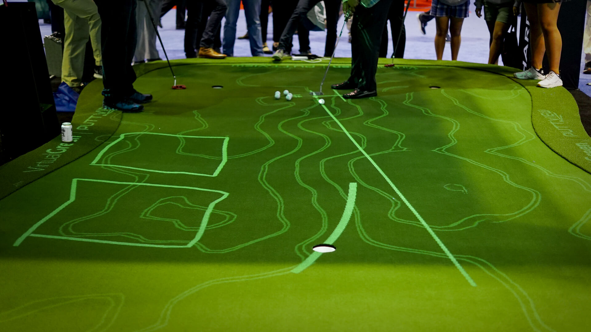 PuttView offers you almost endless possibilities in terms of practice. You can place the ball on any spot of the green and PuttView will tell you everything you need to know about that putt. Add various visual cues and fun games to the mix, and you will never want to leave the putting green. ©puttview.com