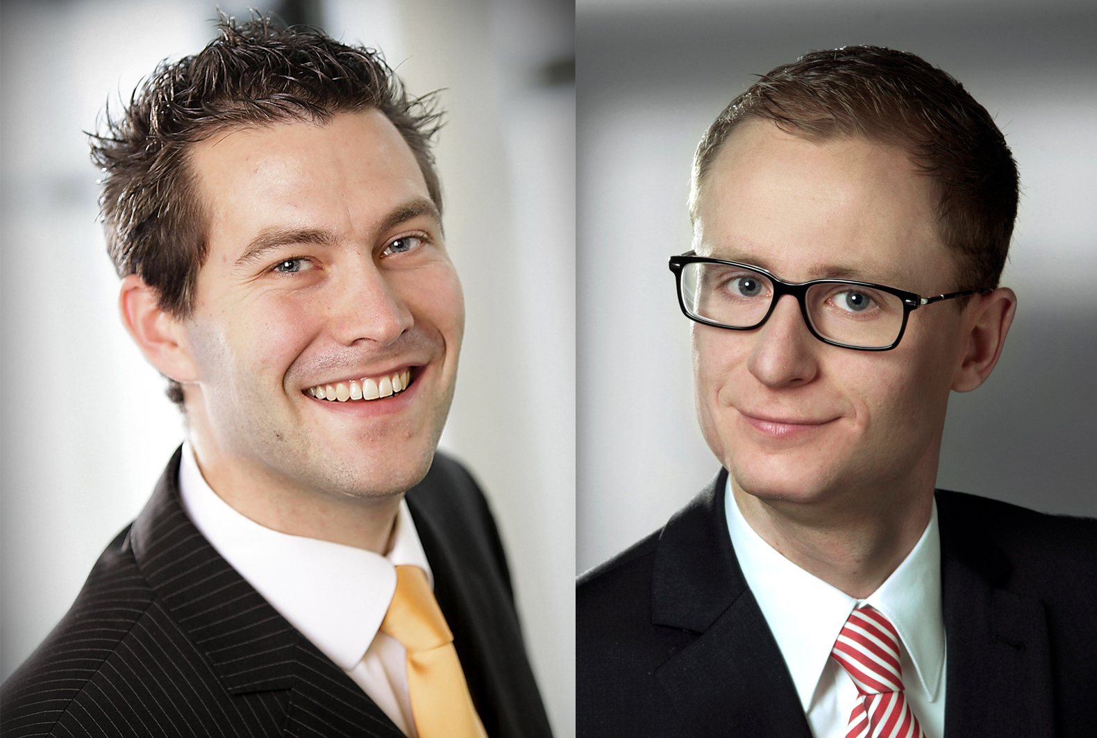 Lukas Posniak (left) and Christoph Pregizer in their younger versions before the PuttView story had begun . © puttview.com