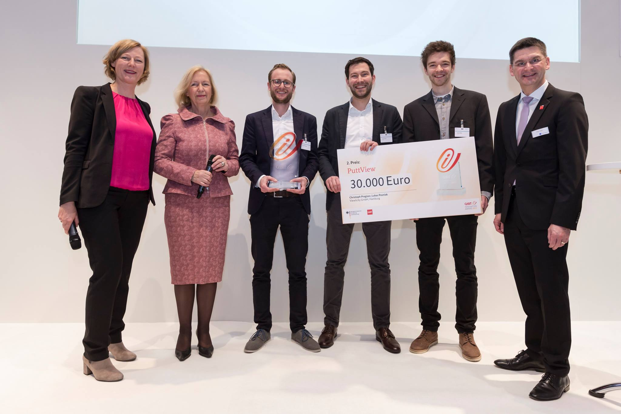 PuttView has managed to win multiple awards, including a second place at the CeBit Innovation Award 2017. The prize money was 30.000 Euros. © puttview.com
